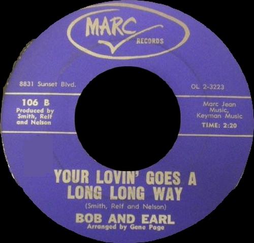 "Bob & Earl : CD "" The Fabulous Singles Collection 1957-1964 "" SB Records DP 90 [ FR ]"