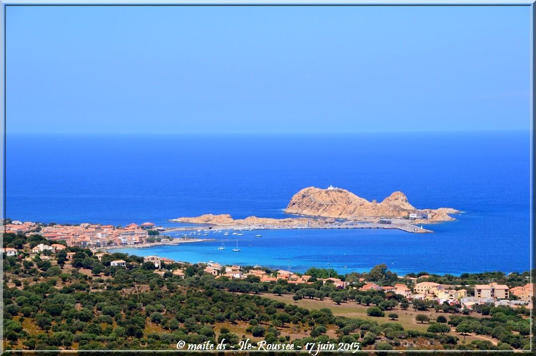 Ile-Rousse depuis Monticello - Corse