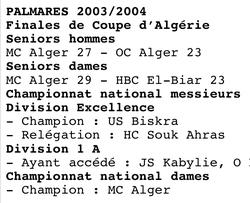 Finale MCA-OC Alger 27-23