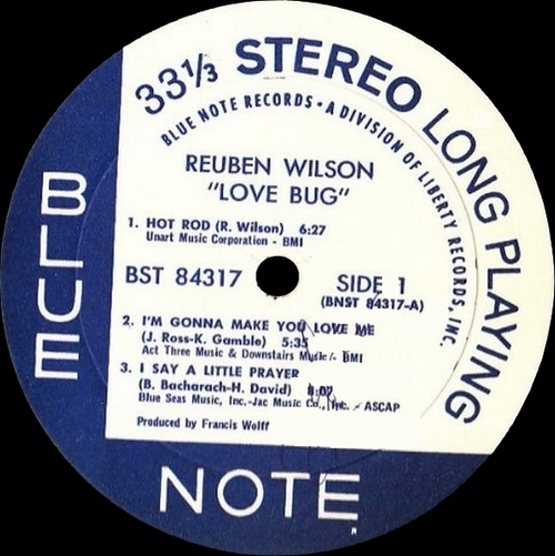 "Reuben Wilson : Album "" Love Bug "" Blue Note Records BST 84317 [ US ]"
