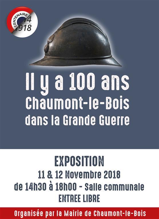 Une belle exposition sur la Grande Guerre sera visible à Chaumont le Bois dimanche 11 novembre et lundi 12 novembre