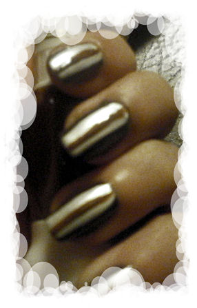 nail art vanille chocolat perlé
