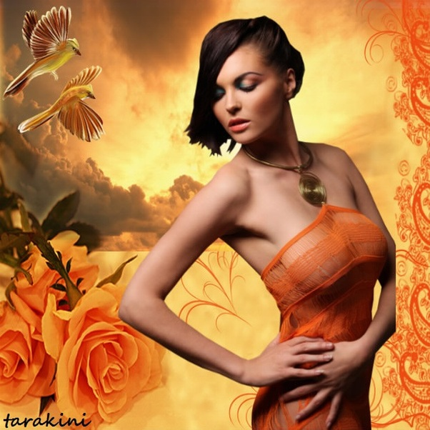 la couleur du mois: orange