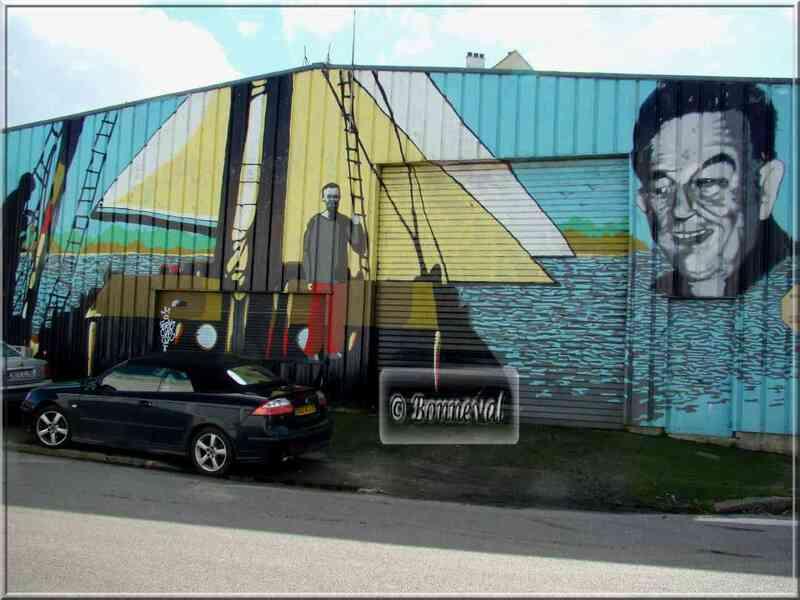 * Finistère * fresque murale sur un entrepôt frigorifique Douarnenez