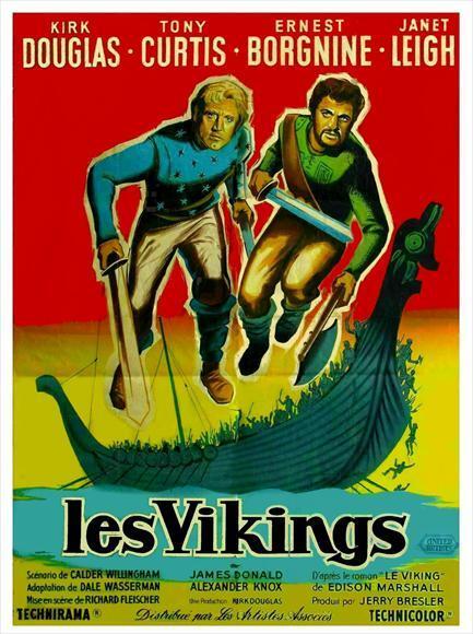 LES VIKINGS - KIRK DOUGLAS BOX OFFICE 1958