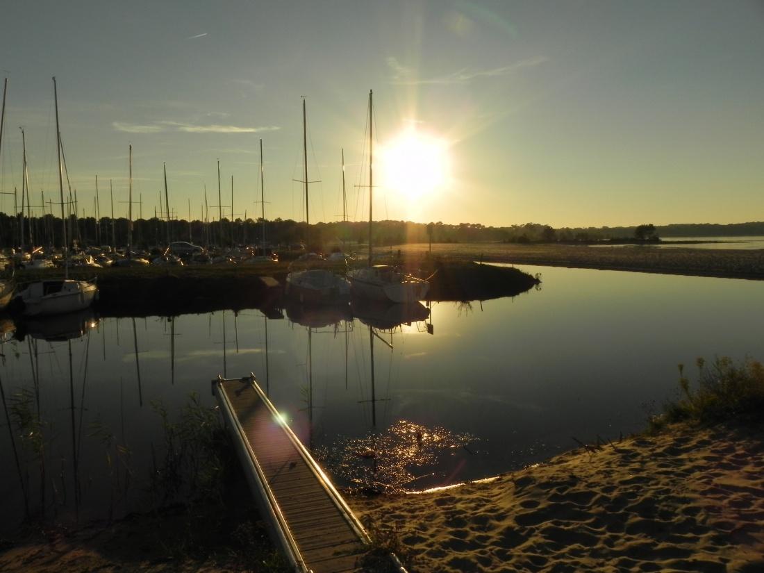 Coucher de soleil au lac de Biscarosse