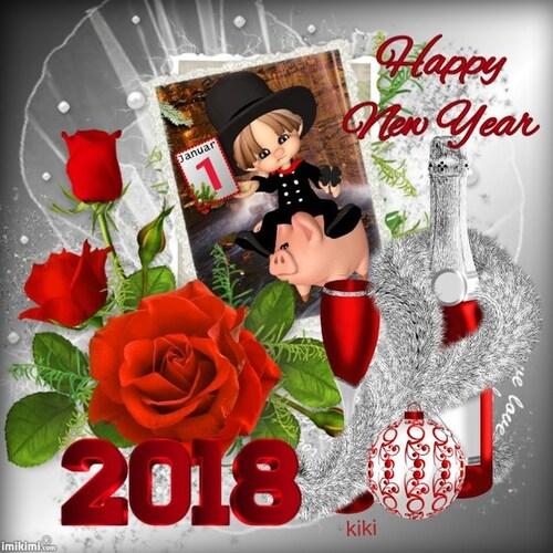 Bonjour 2018 avec vos cadeaux