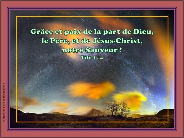 Grâce et Paix - Tite 1 : 4