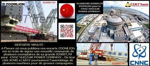 CHINE: les grues treillis sur chenilles de 88, 83 et 82000T/M.