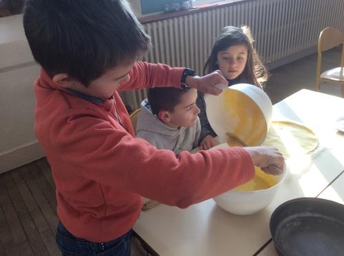 CE1-CE2 Atelier culinaire et dégustation de galettes frangipane