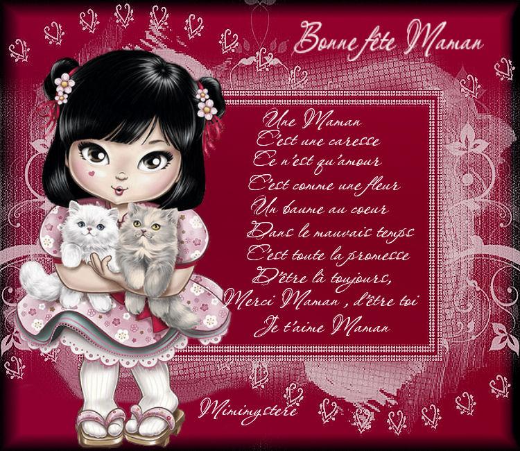 Bonne Fêtes à toutes les mamans du monde....Bisou tendresse à toutes