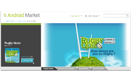 Rugby Quizz - Android Market