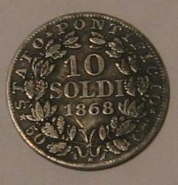 10 soldi 1868 revers