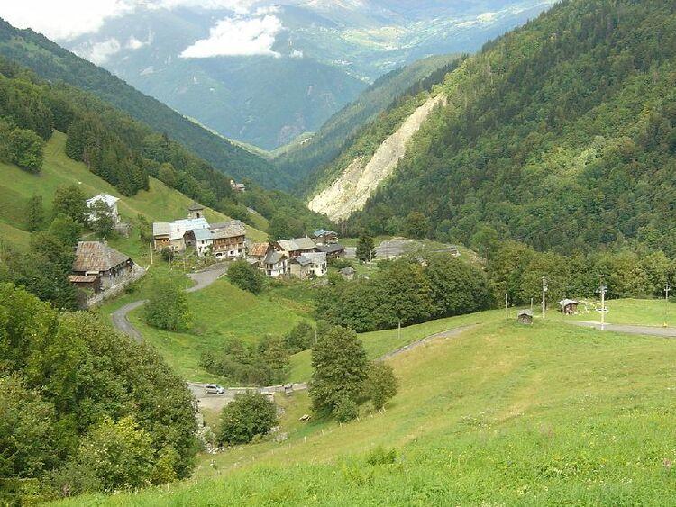 La station Thermale de la Léchère et ses environs