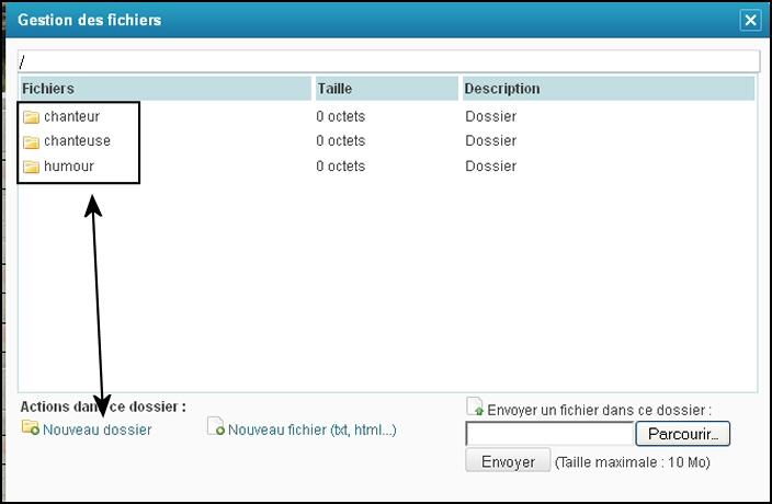 gestions de fichiers