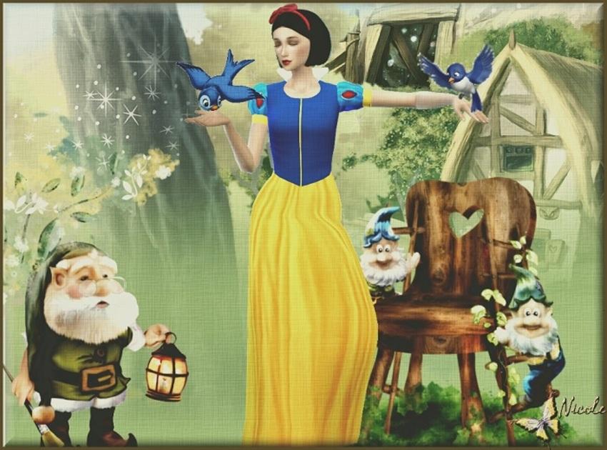 TS4 Sim: Blanche Neige
