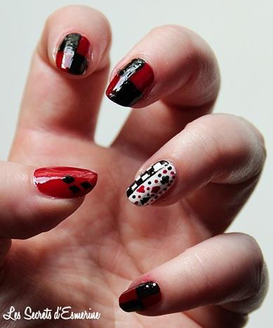 halloween, harley quinn, nail art, na