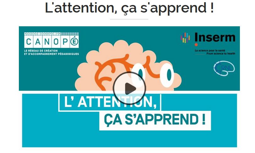 L'attention, ça s'apprend - MOOC de J-P Lachaux
