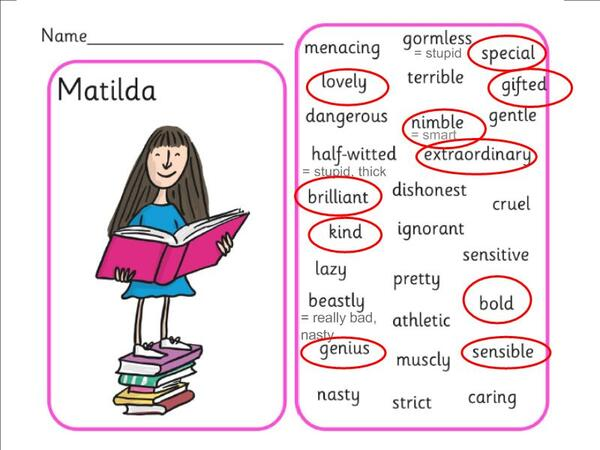 CM2/3 - I will ... LEARN adjectives with Matilda !