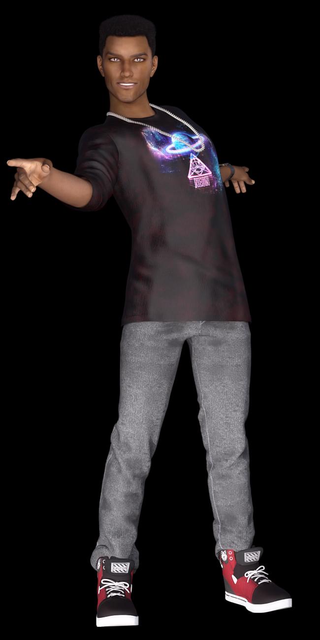 Tube d'homme qui danse (poser-image)