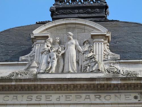 Dans la rue de la République à Amiens