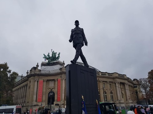 Paris - Cérémonie du souvenir le 10 novembre 2018