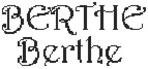 Dictons de la Ste Berthe + grille prénom  !