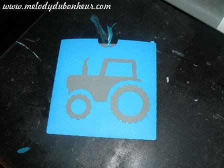 Faire part pochette thème tracteur