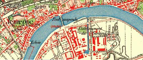 Jemeppe & Seraing (Carte du dépôt de la guerre (1865 - 1880)