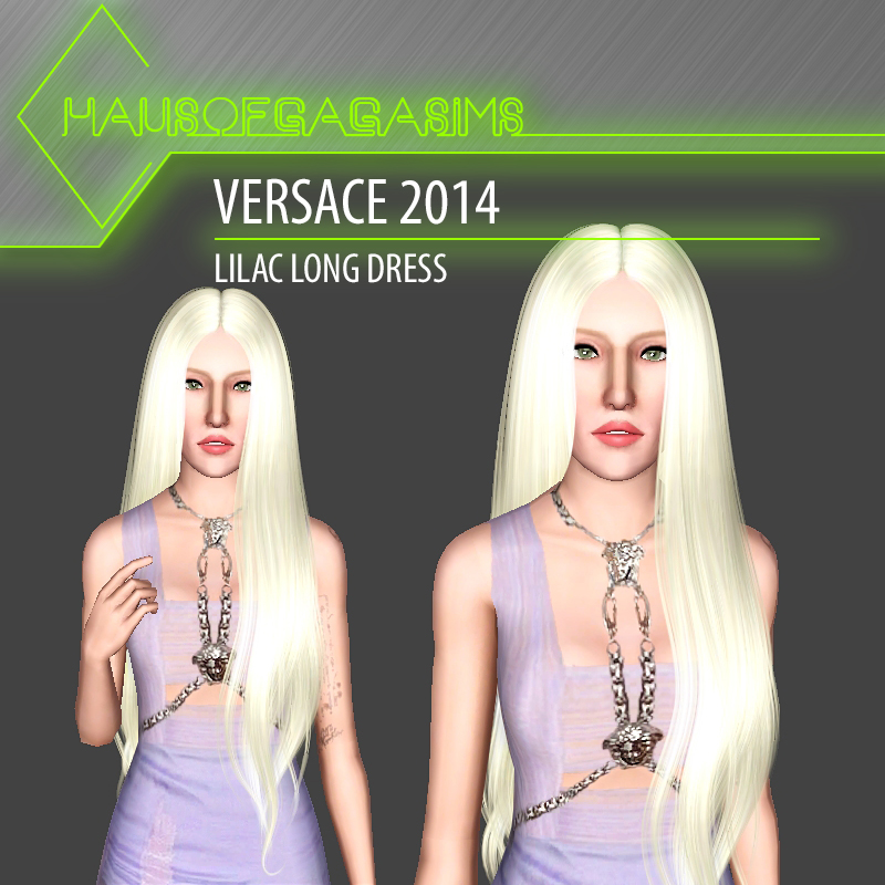 VERSACE 2014 LILAC LONG DRESS