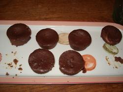 Mini cheese-cake au chocolat et à l'orange