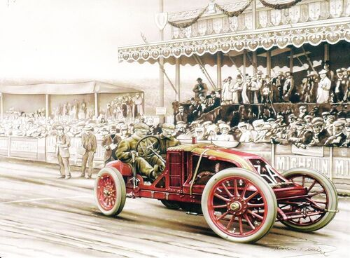 Le premier Grand Prix de l' Automobile Club de France.