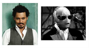 Johnny Depp invisible ?