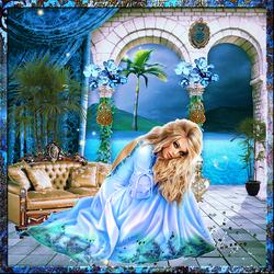 Ephéméride, date, heure Paradis bleu code inclu