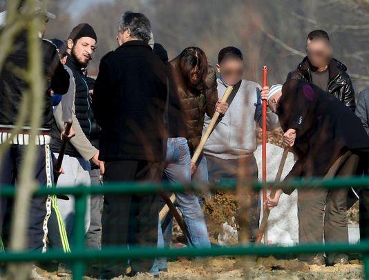 Abid Aberkan le 17 mars au cimetière de Schaerbeek lors de l'enterrement de son ami Brahim Abdeslam, un des auteurs des attentats du 13 novembre. Il est soupçonné d'avoir aidé son frère Salah à se cacher à Bruxelles.