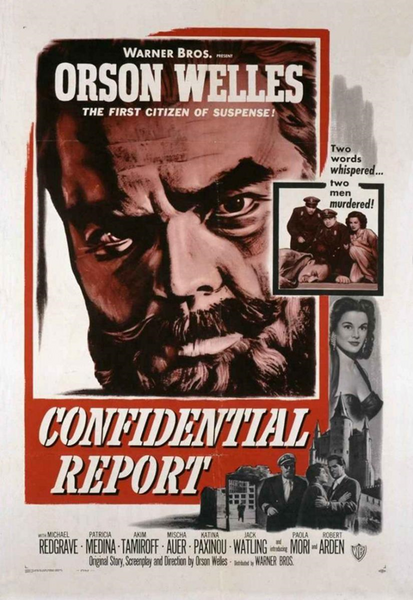 Mr Arkadin, Confidential Report, Orson Welles, 1955