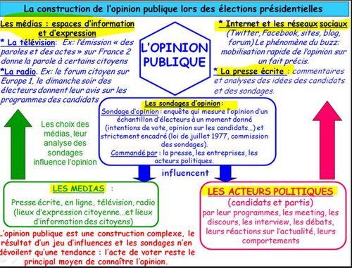 Opinion publique et sciences politiques