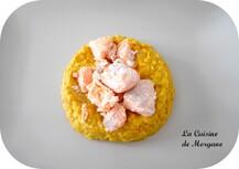 Lentilles corail au lait de coco et saumon