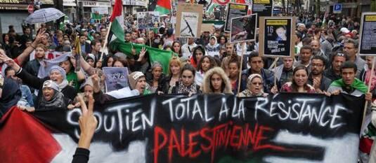 Paris : affrontements à l'issue d'une manifestation pro-palestinienne
