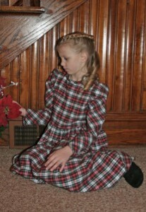 Robe en flanelle plaid fille