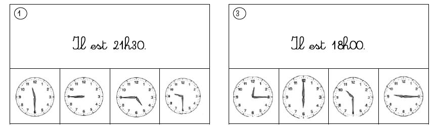 exercice sur l heure ce2 pdf