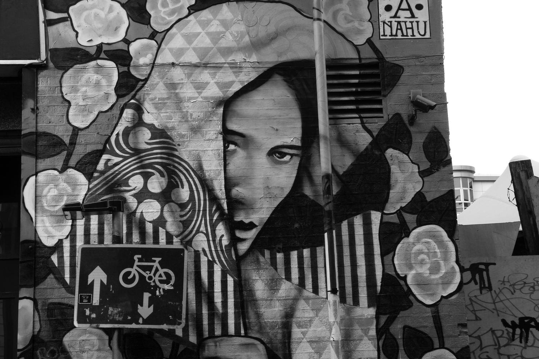 street art à Londres balade en N&B #171016