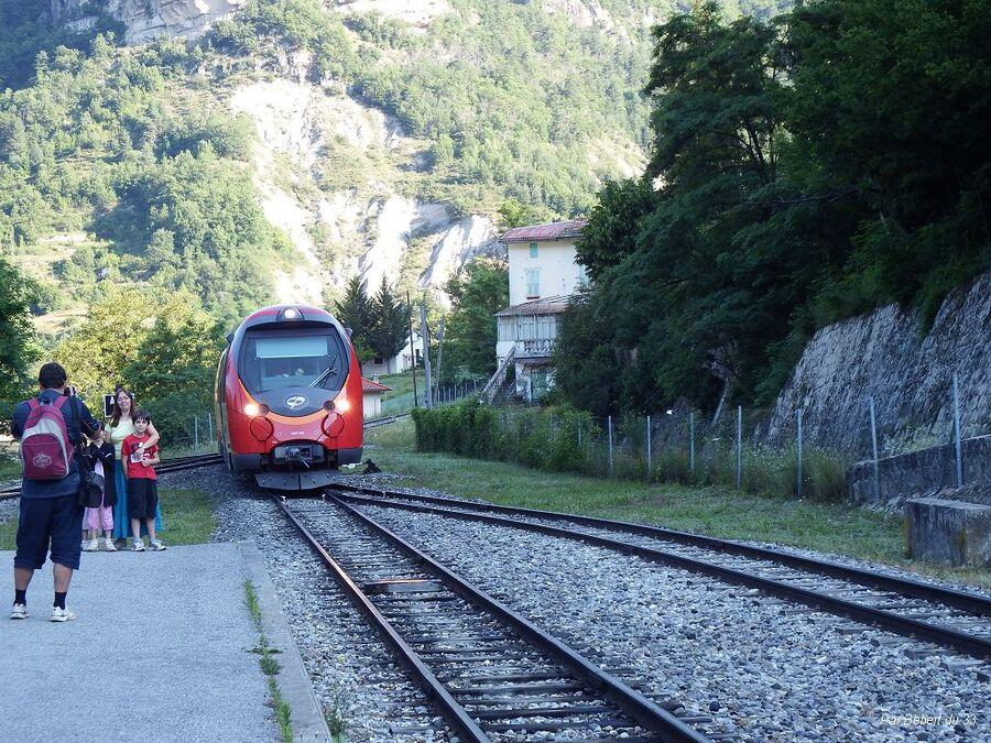 Départ par le train pour Entrevaux