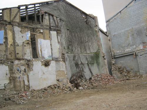La GRAND'RUE : démolitions de nombreuses maisons