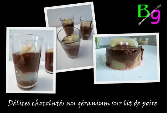 chocolat géranium poire
