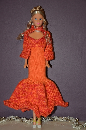robe orange tricot par greenyy