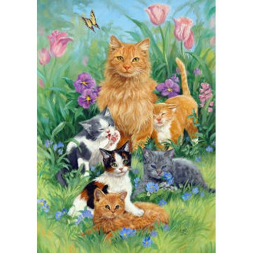 Meadow Cats Garden Flag