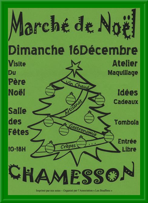 Le Marché de Noël de Chamesson aura lieu dimanche...