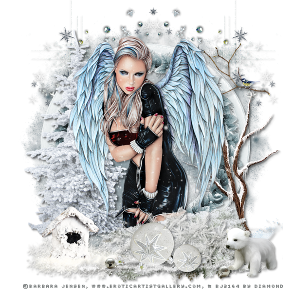 "Tutoriel ""Little Frosty Angel"" de Lisa creations"