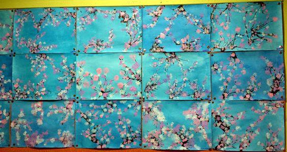Branches de cerisier en fleurs (idée pinterest)